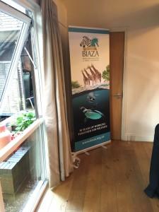BIAZA roller banner design